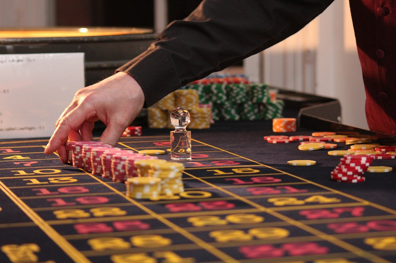 croupier and chips